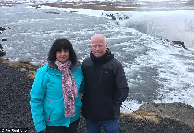 Ms Morawaka on holiday in Iceland with her partner Mike Griffin, 57