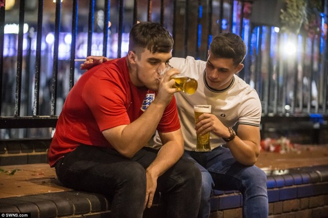 In Birmingham, fans who had hoped to be celebrating by the end of the night instead drank their sorrows away