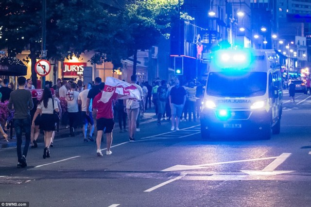West Midlands Ambulance Service urged football fans across the region to 'show dignity and respect' after trouble sparked