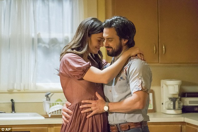 So touching: This Is Us did well with Milo Ventimiglia getting a nod; seen with Mandy Moore