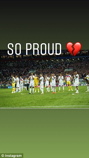 Becky Vardy also shared these Instagram Story posts reminding the England team to be proud of their achievements