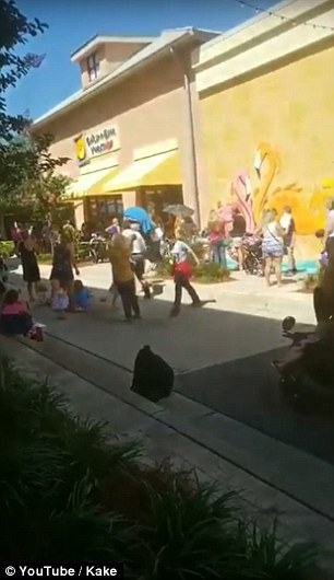 A passerby captured video of one of the long lines outside of a store in Destin, Florida, just 15 minutes after it opened