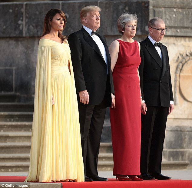 Mr May put aside his own political ambitions to support his wife¿s career and acts as a sounding board for her. Mrs Trump barely featured in her husband¿s election campaign and reportedly burst into tears (of grief) when she learned he had won