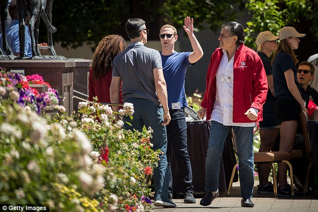 Zuckerberg rubbed shoulders with Felicia Horowitz, founder of Horowitz Family Foundation and wife of venture capitalist Ben Horowitz, Thomas Staggs, former chief operating officer of The Walt Disney Company, and Haim Saban, chairman of Univision Communications and chief executive of the Saban Capital Group