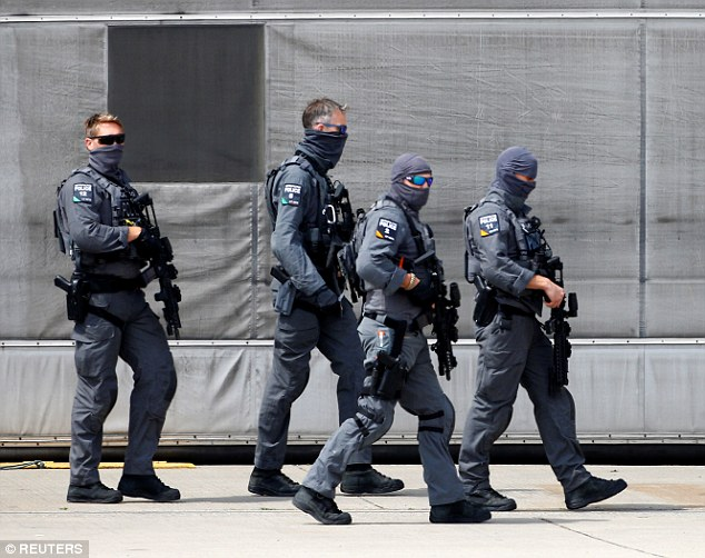 Britain's most elite counter terrorism police unitCTSFO are also shadowing the US President during his high-profile stay