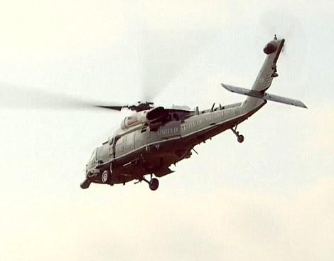 Trump is flown to Sandhurst in marine one