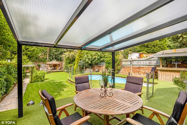 The Bromley property also has a dedicated outdoors space for dining