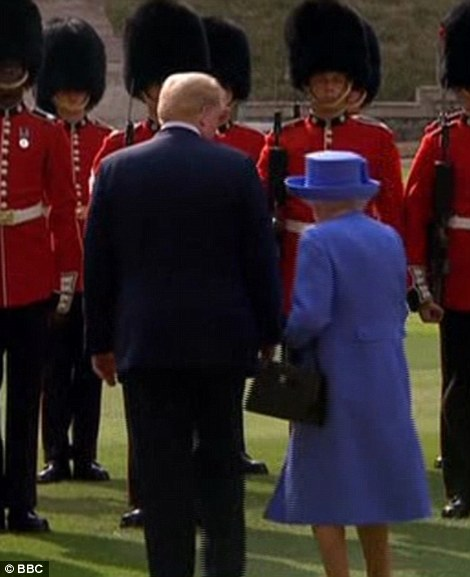 Donald Trump has met the Queen at Windsor Castle as part of this weekend's tour of the UK following on from his meeting with Theresa May