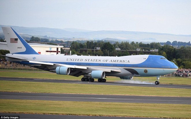 Donald Trump has touched down in Scotland amid fierce protests up and down the UK to demonstrate opposition to his official visit