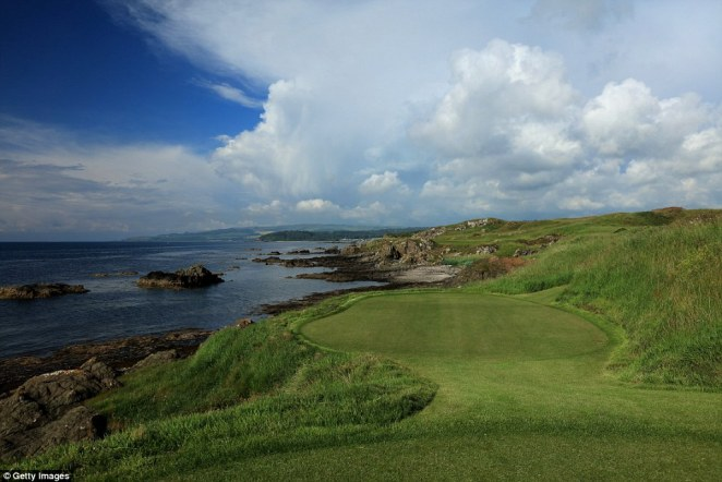 The par 3, 11th hole of the Ailsa Course at the Trump Turnberry Resort is seen here in 2016