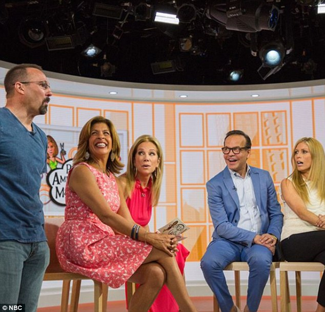 Look of love: Holly's husband, Shane, was overcome with emotion when he saw her makeover
