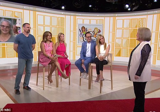 Helping hand: Shane was so overcome with emotion that Today host Kathie Lee Gifford requested some tissues for him