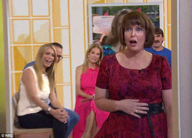 Stunned:'I can't believe that's me,' Susan said when she checked out her makeover in the mirror for the first time