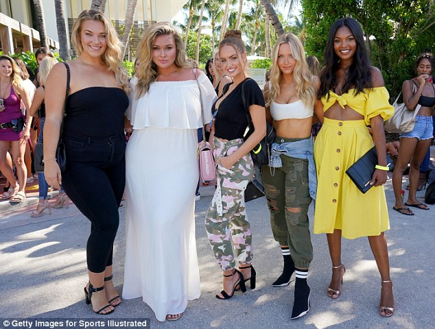 Coaches: Kate Wasley, Hunter McGrady, Haley Kalil, Camille Kostek, and Jasmyn Wilkins (from left to right) were among the 'model mentors' at the event