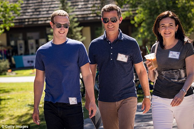 Facebook CEO Mark Zuckerberg, vice president Dan Rose and COO Sheryl Sandberg all shunned the unofficial uniform