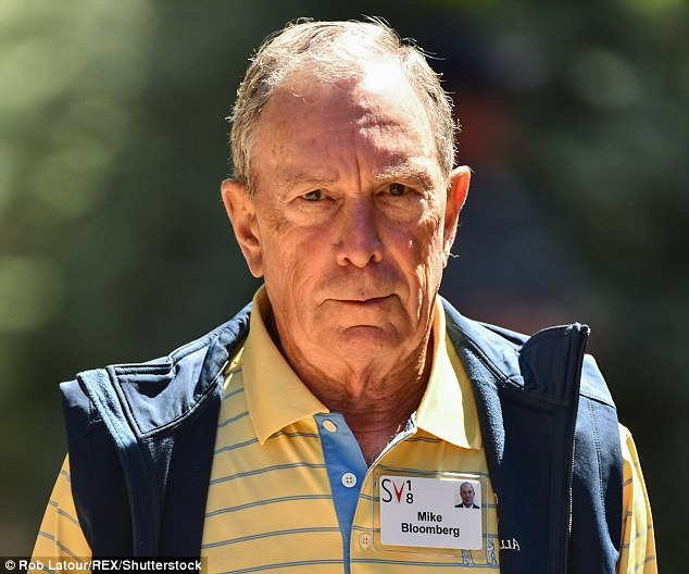 Mike Bloomberg is a veteran of the Sun Valley conference, and is seen wearing his official fleece vest on Thursday