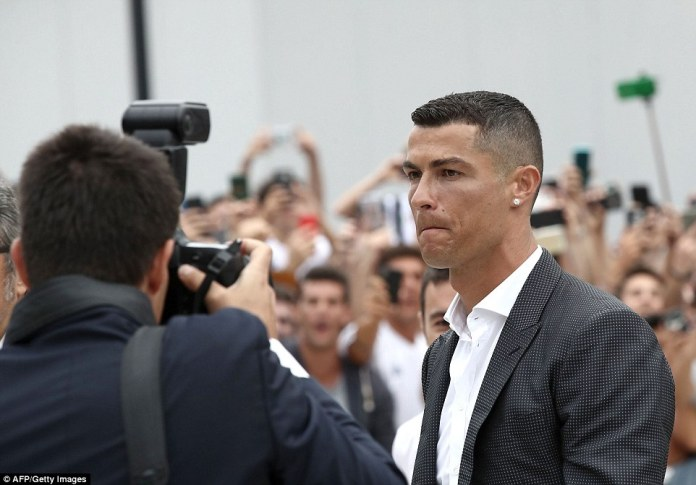 As always, Ronaldo was happy being the centre of attention as the next chapter in his playing career starts in Italy