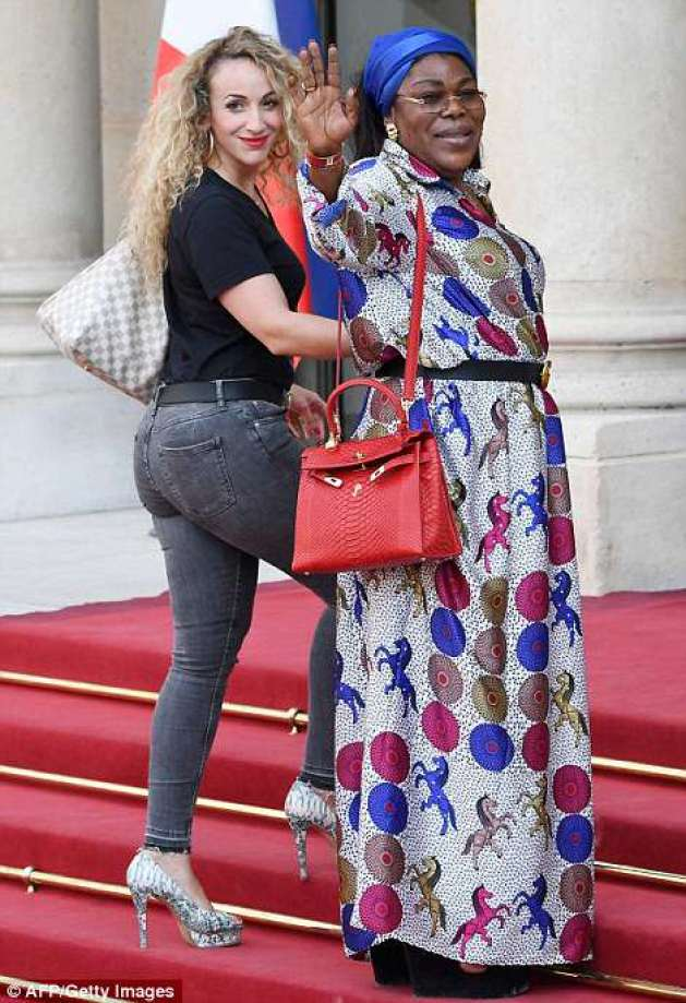 Paul Pogba's girlfriend Maria Zulay Salaues and his mother Yeo were spotted entering the palace