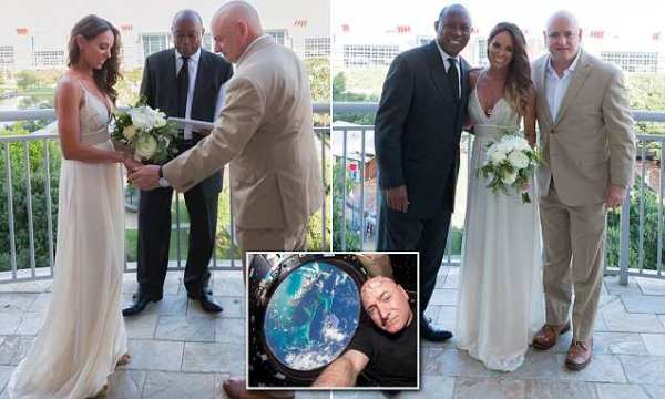 Astronaut Scott Kelly marries his long-time girlfriend ...