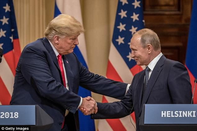 "Trump continued to insist on Thursday's tweets that his first summit with Putin was a ""big hit"" since he called the media a ""real enemy."" of the people"