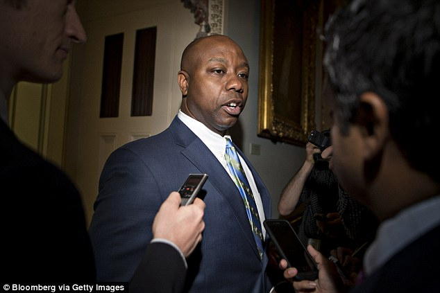 Voting down: Tim Scott, the South Carolina Republican, said he could not vote for Trump nominee Ryan Bounds, effectively condemning him and prompting Mitch McConnell to pull the vote