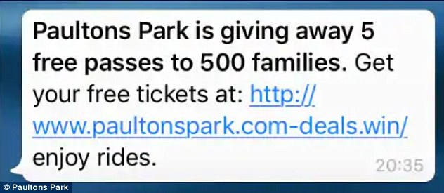 After clicking on the link (pictured), users are taken through to a site riddled with malicious software. The page, which is in no way affiliated with any legitimate ticket sourcing site, requests users input personal information