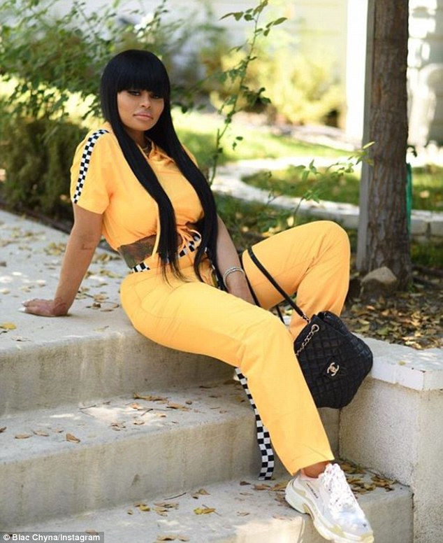 On her grind:Chyna did not acknowledge Toni's plea as she took to Instagram Wednesday, showing off shots of herself in a yellow outfit with checkered strips