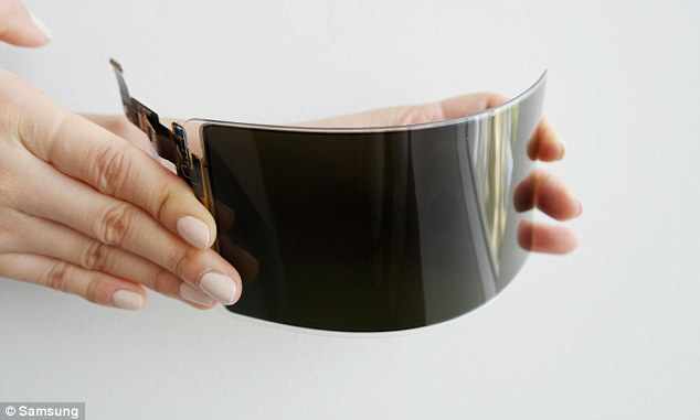 Samsung revealed Thursday its 'unbreakable smartphone panel' (pictured), a next-generation organic LED display that's protected by a shatter-proof 'substrate,' or coating
