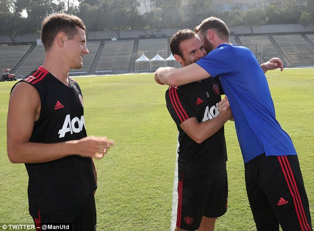 David de Gea joined up with his Manchester United team-mates on their US pre-season tour