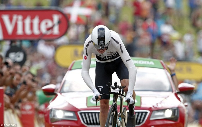 Froome finished second at the end of stage 20 and could still finish the Tour in second place ahead of Dumoulin