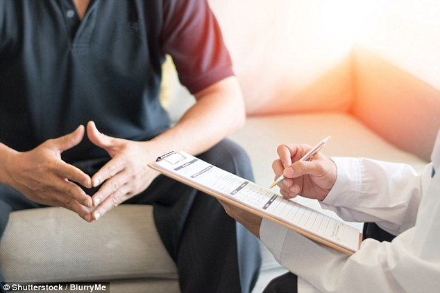 Lifestyle changes such as losing weight, giving up smoking and reducing alcohol are often prescribed as treatment, as well as drugs Viagra, Tadalafil and Avanafil (stock image)