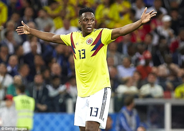 Colombia centre back Yerry Mina has emerged as a transfer target for Manchester United