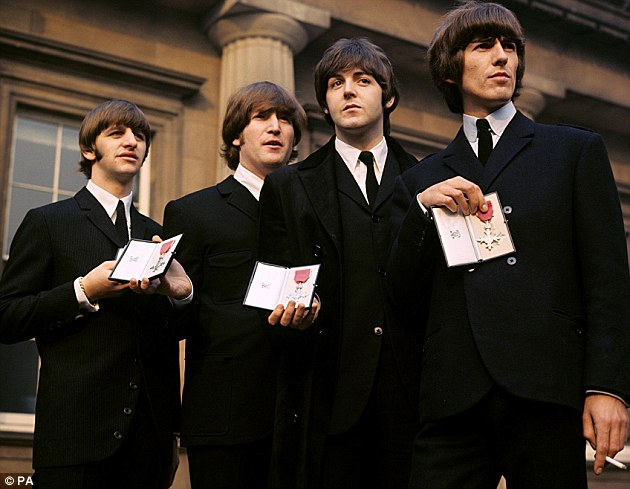 Researchers 'decomposed' Beatles (pictured) songs from 1962 to 1966 and looked at 149 different metrics to determine the musical fingerprints of each songwriter. These allowed the researchers to develop an auditory signature for the artist