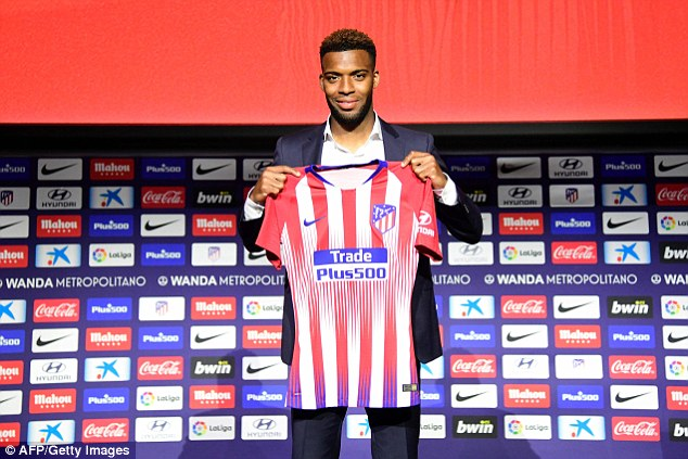 Frenchman was unveiled at the Wanda Metropolitano after sealing £52m move from Monaco