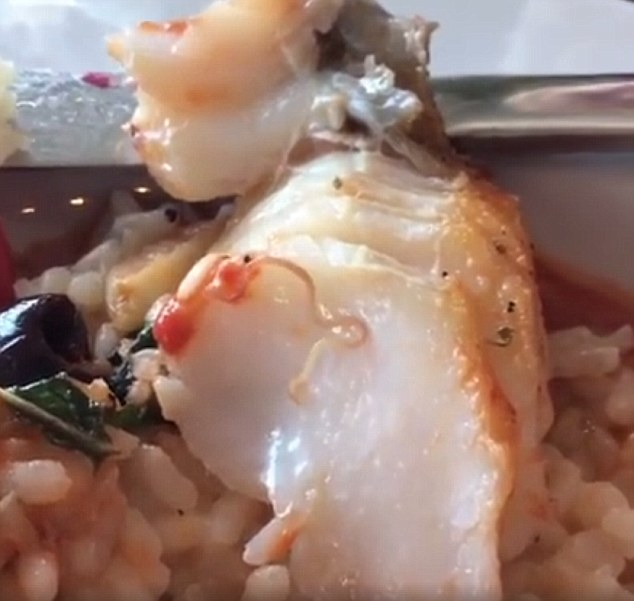 Woman Finds A WORM In Her Codfish At New Jersey Restaurant