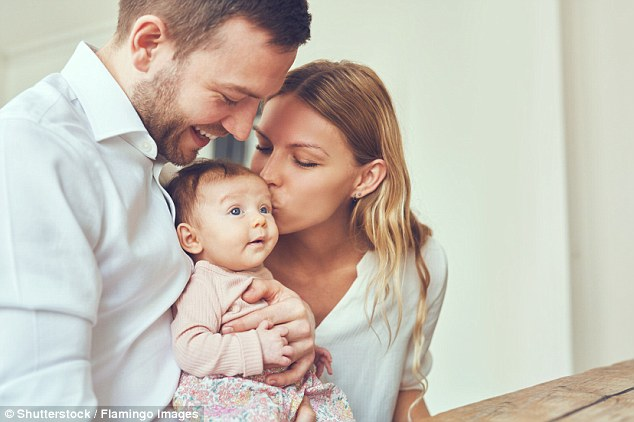 A father's genes are not just a blueprint for growth, according to the latest research using mice. Paternal genes may influence a woman's mood during pregnancy and therefore how well she cares for her baby (stock image)
