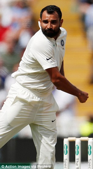 Mohammed Shami trapped the No 4 for eight and sent him walking after another failure
