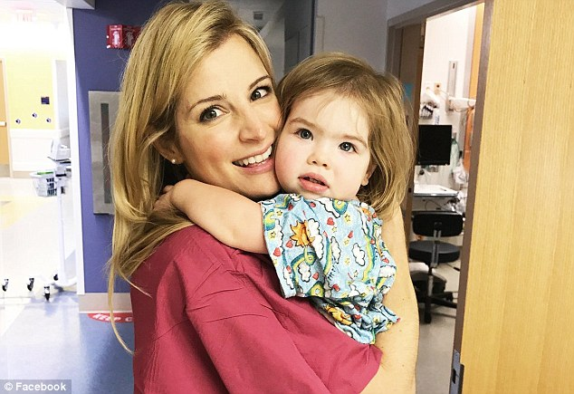 Annabel Frost, two, of Washington, DC, was diagnosed with a rare, genetic disorder called Alternating hemiplegia of childhood in October 2017. Pictured: Annabel with her mother, Nina