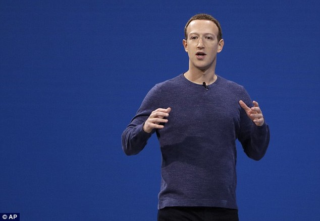 Controversially, Facebook did not include any lessons about fake news with the tool. CEO Mark Zuckerberg (file photo) has previously said the company is cracking down on fake news reports spread through its app and website