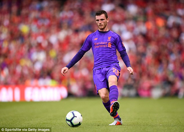 Robertson said: 'Alisson was very comfortable on the ball and was starting most of our play'