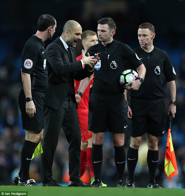 Pep Guardiola's side would never have reached 100 points without decisions going their way