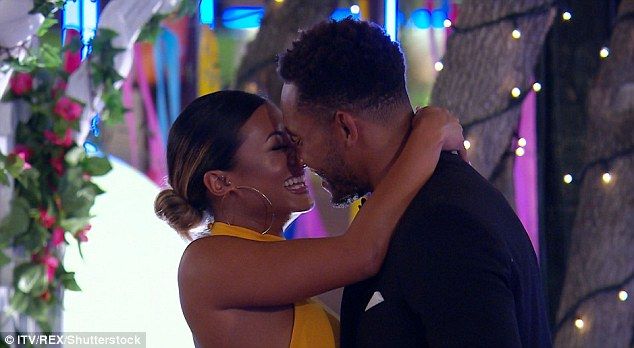 Loved-up: Josh and Kaz had a shaky start to their romance, after he became the subject of fan vitriol due to breaking off his romance with Georgia Steel