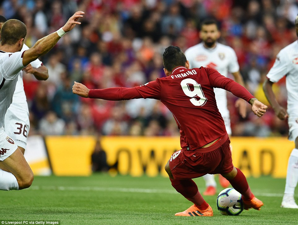 Firmino played in his usual role of lone striker and was once again flanked by deadly duo Sadio Mane and Mo Salah