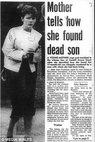 Pictured: A South Wales Echo front page article from the time David Gaut was put on trial for killing Chi and lied that it was an accident