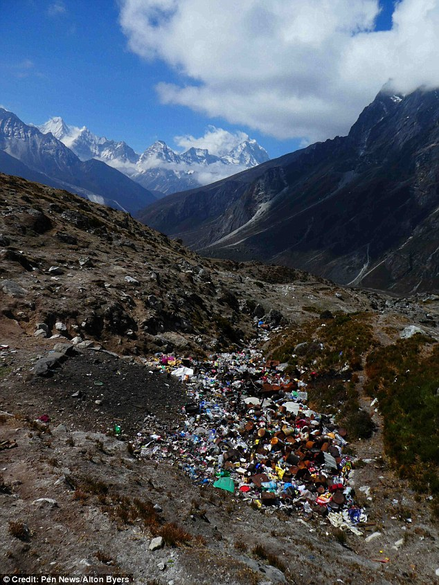 The shocking true impact of tourism on Mount Everest has been laid bare in photos that reveal where the rubbish really ends up