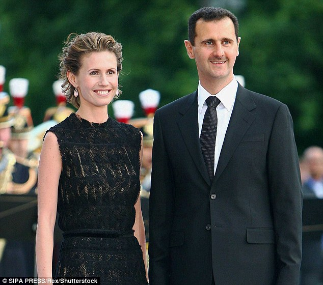 Pictured: Syrian President Bashar al-Assad and his wife Asma al-Assad in July of 2008