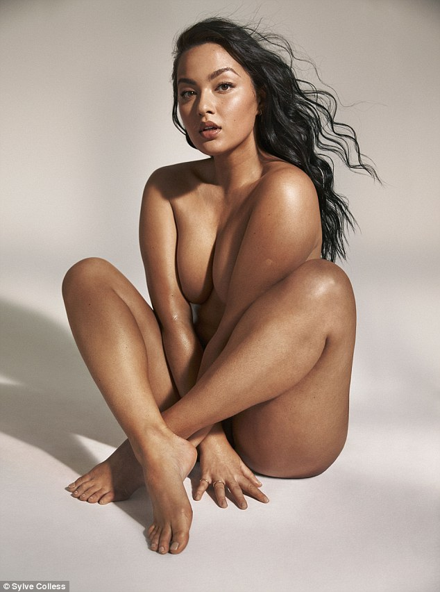 Striking: Model Mia Kang also posed up for the shoot, revealing on Instagram that she chose to take part 'for all women who have ever suffered eating disorders'
