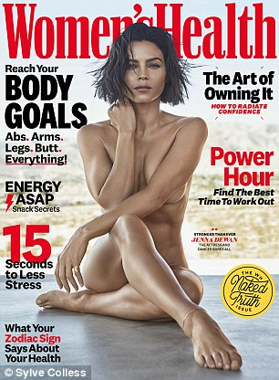 Stunning: Featured on the cover of the issue is actress and dancer Jenna Dewan