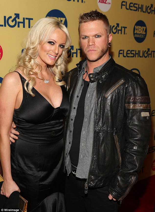 Stormy Daniels, 39, and estranged husband Glendon Crain, 41, were awarded joint custody of their seven-year-old daughter Caiden on Wednesday (pictured in 2013)