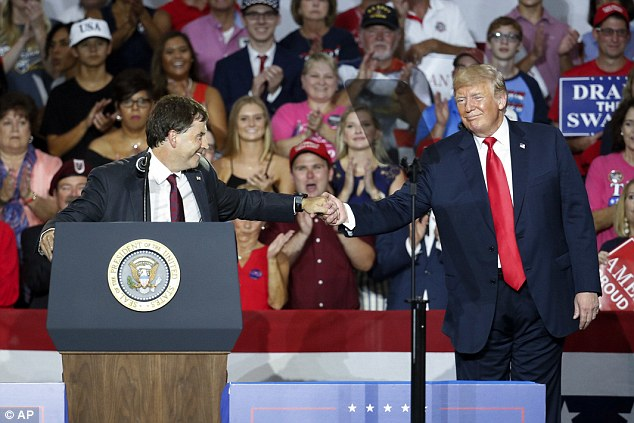 The Trump-endorsed Ohio Republican Troy Balderson ran in a district where the previous GOP incumbent won re-election with 66 per cent of the vote, but Tuesday's election is still too close to call